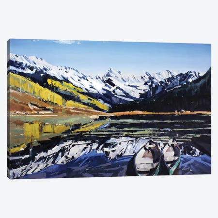Vail Canoes 3-Piece Canvas #SHG38} by David Shingler Canvas Art