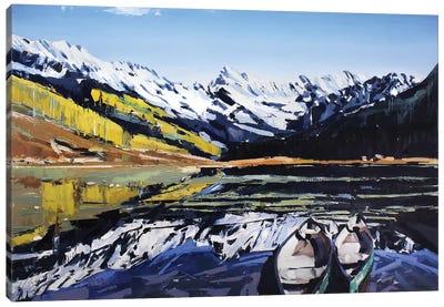 Vail Canoes Canvas Art Print
