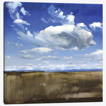 Wyoming Clouds Canvas Print #SHG41} by David Shingler Canvas Print