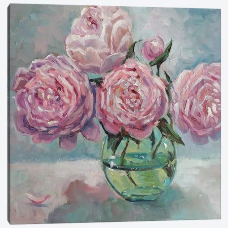 Pink Peonies Canvas Print #SHH15} by Lana Shamshurina Canvas Wall Art