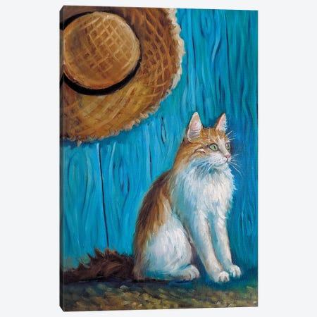 Van Gogh's Cat Canvas Print #SHH20} by Lana Shamshurina Canvas Art