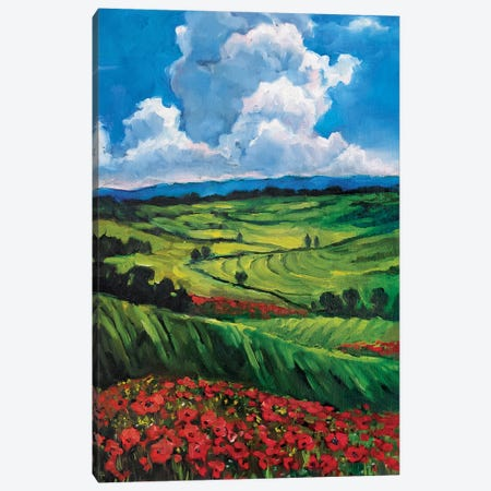 Poppy Field Canvas Print #SHH24} by Lana Shamshurina Art Print