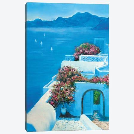 Santorini Canvas Print #SHH29} by Lana Shamshurina Canvas Artwork