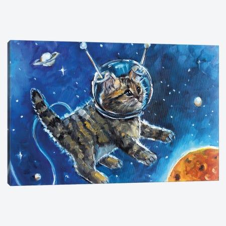 Kitten In The Space Canvas Print #SHH2} by Lana Shamshurina Canvas Artwork