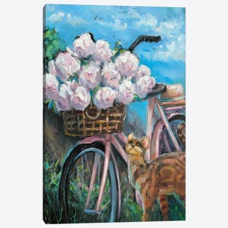 Summer Is A Small Life Canvas Print #SHH37} by Lana Shamshurina Canvas Wall Art