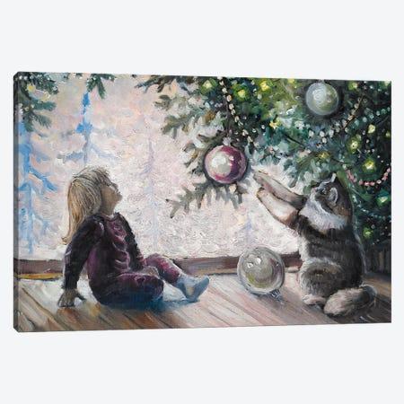 Christmas Morning Canvas Print #SHH51} by Lana Shamshurina Canvas Art Print