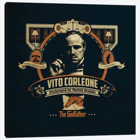Vito Corleone Canvas Print #SHI11} by Shinewall Canvas Wall Art
