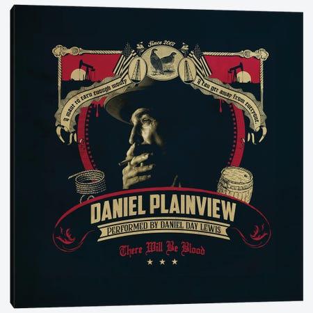Daniel Plainview Canvas Print #SHI12} by Shinewall Canvas Artwork