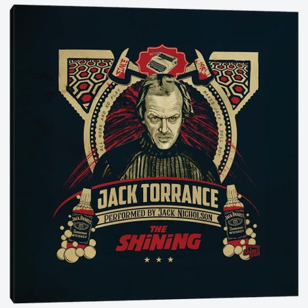 Jack Torrance Canvas Print #SHI13} by Shinewall Canvas Art