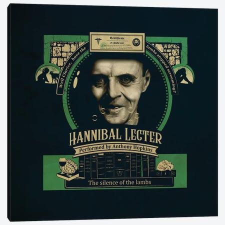 Hannibal Lecter Canvas Print #SHI15} by Shinewall Canvas Print
