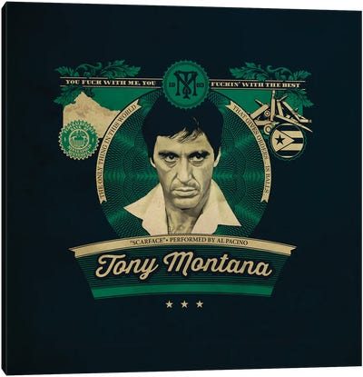 Tony Montana Canvas Art Print