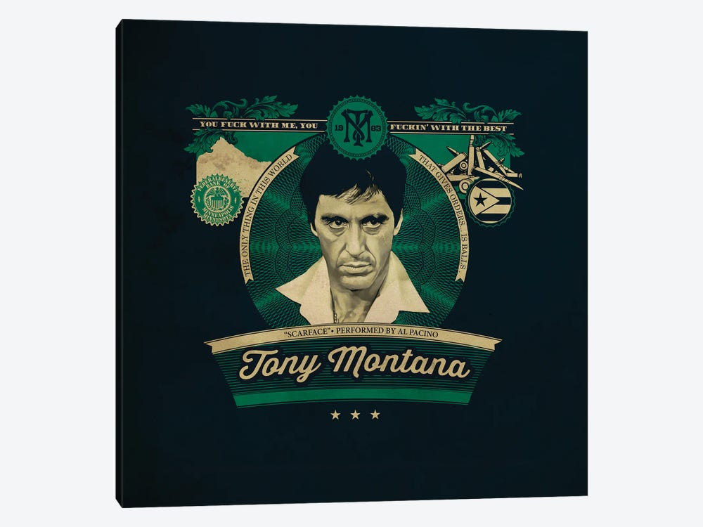 Tony Montana by Shinewall 1-piece Canvas Wall Art