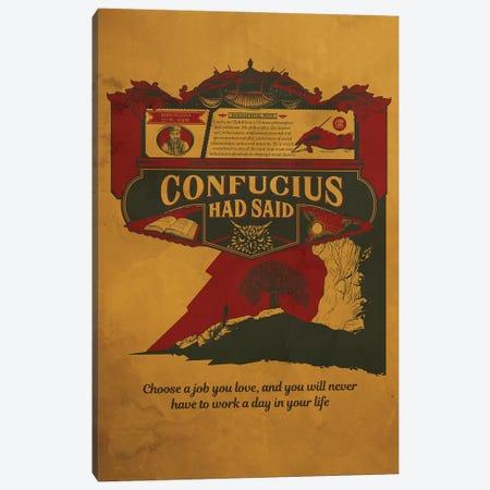Confucious Quote Canvas Print #SHI17} by Shinewall Art Print