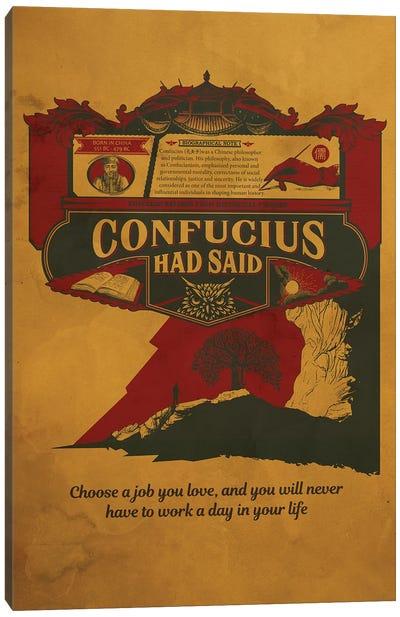 Confucious Quote Canvas Art Print