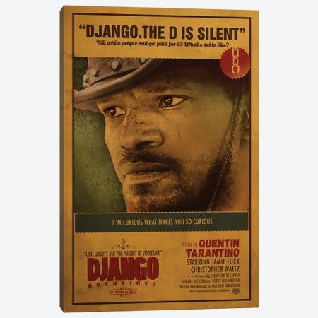 Django Unchained Canvas Print #SHI18} by Shinewall Canvas Artwork