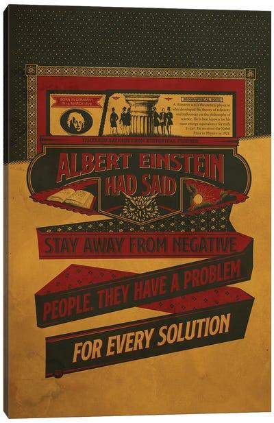 Einstein Quotes Canvas Art Print