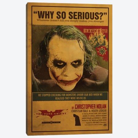 Joker Canvas Print #SHI38} by Shinewall Canvas Artwork