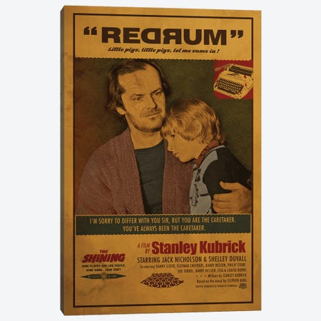 The Shining Canvas Print #SHI40} by Shinewall Canvas Print