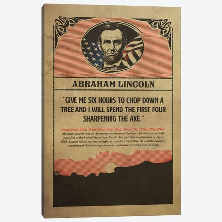 Lincoln Poster Canvas Print #SHI47} by Shinewall Canvas Art