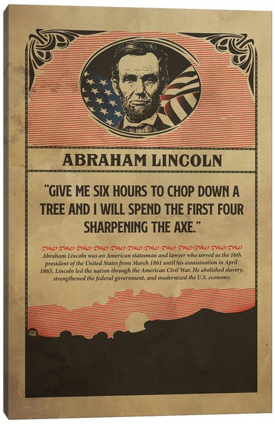Lincoln Poster Canvas Art Print