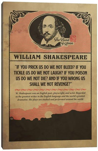 Shakespear Retro Poster Canvas Art Print