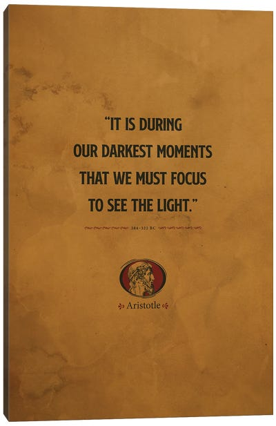Aristotle Quotes Canvas Art Print