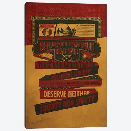 Benjamin Franklin Poster Canvas Print #SHI6} by Shinewall Canvas Artwork