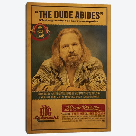 Big Lebowski Canvas Print #SHI7} by Shinewall Canvas Wall Art