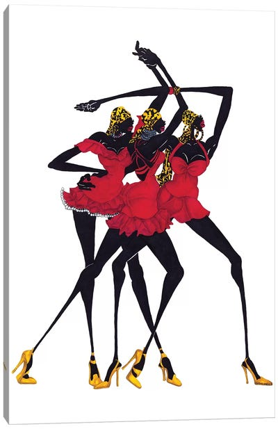 Little Red Dress Canvas Print #SHK4