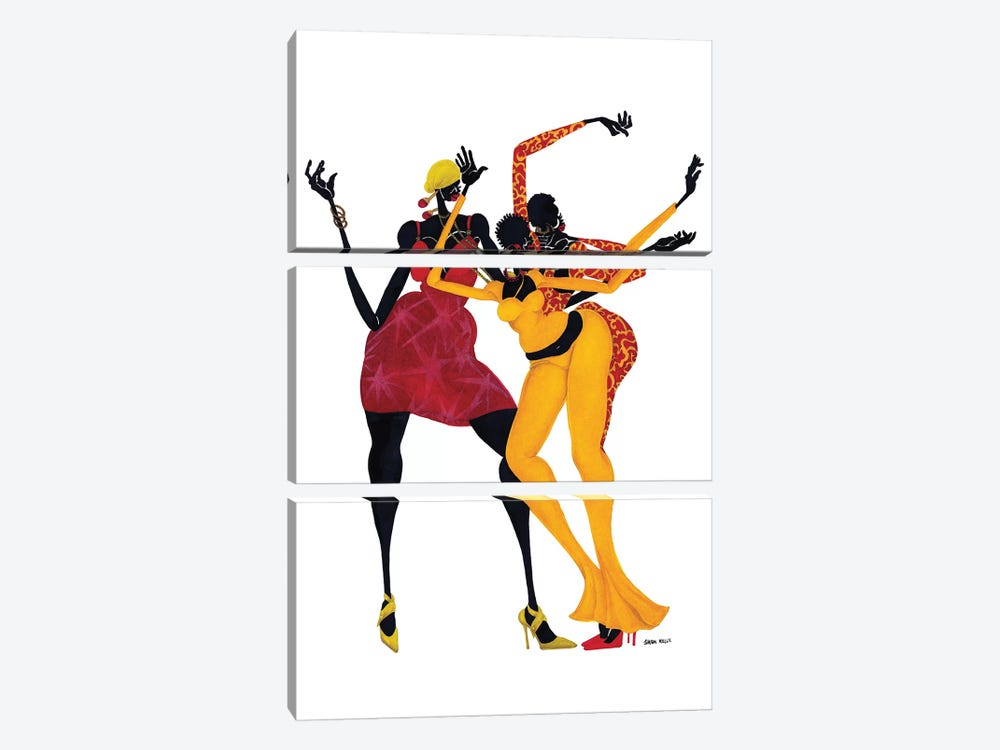Mama's Love Mambo by Shan Kelly 3-piece Canvas Artwork