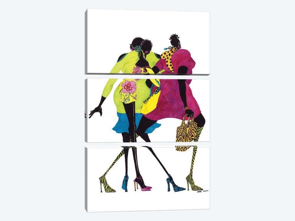 Shop 'Til You Drop by Shan Kelly 3-piece Canvas Art Print