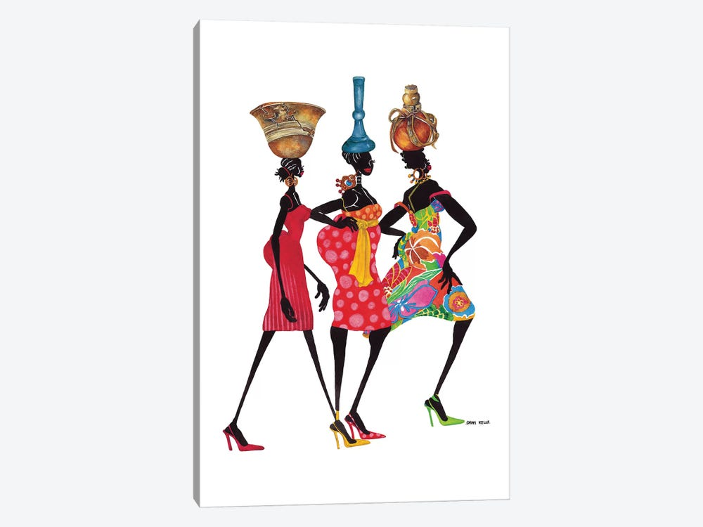 To Market by Shan Kelly 1-piece Art Print