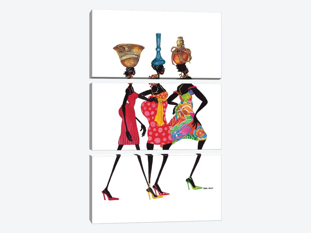 To Market by Shan Kelly 3-piece Canvas Print