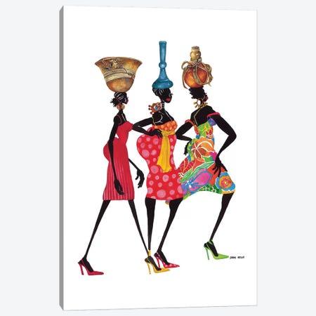 To Market Canvas Print #SHK8} by Shan Kelly Art Print
