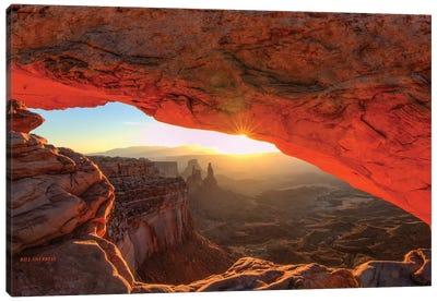 Fiery Sunrise Canvas Art Print