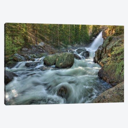 First Rays Over Alberta Falls Canvas Print #SHL107} by Bill Sherrell Canvas Print