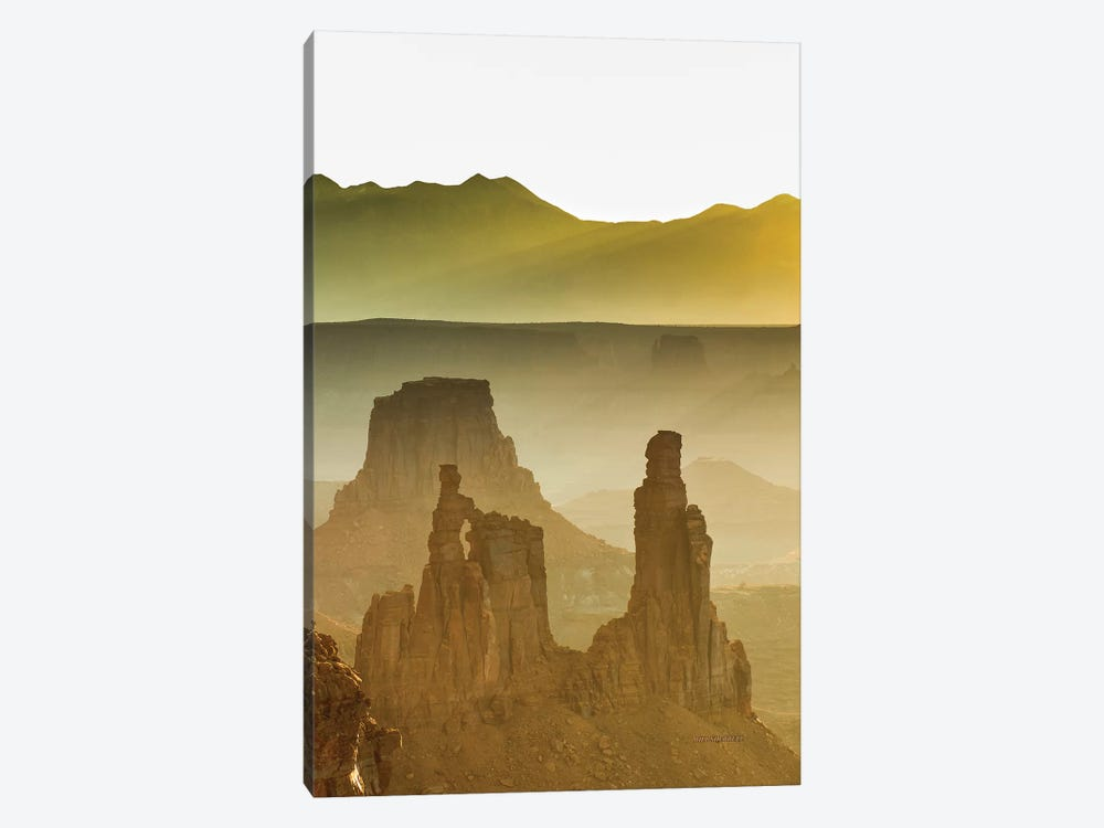 Golden Spires And Mesas by Bill Sherrell 1-piece Canvas Wall Art