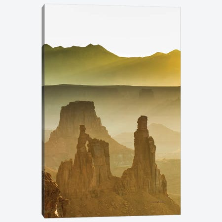 Golden Spires And Mesas 3-Piece Canvas #SHL118} by Bill Sherrell Canvas Print