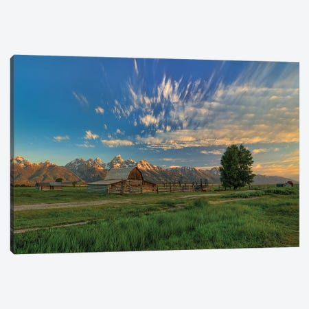 Golden Teton Morning Canvas Print #SHL119} by Bill Sherrell Canvas Print