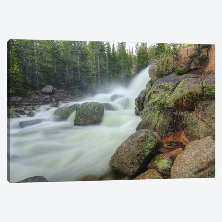 Horizontal Alberta Falls Canvas Print #SHL126} by Bill Sherrell Art Print