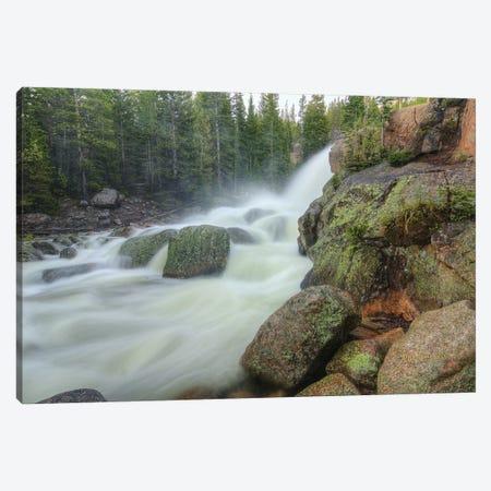 Horizontal Alberta Falls Canvas Print #SHL126} by Bill Sherrell Art Print