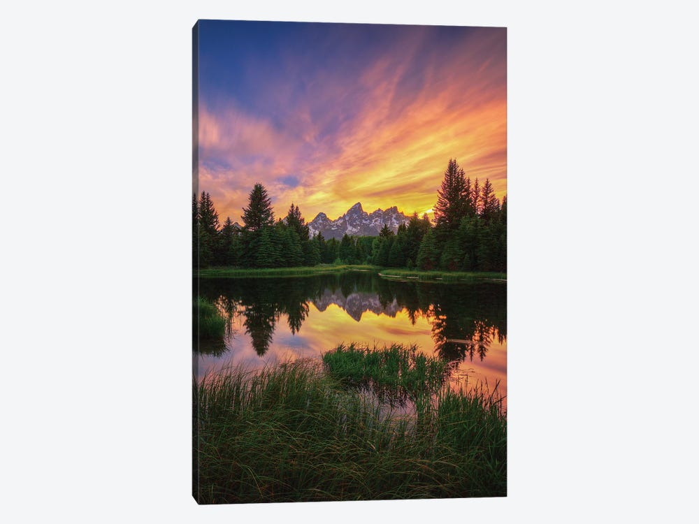 Last Rays Over The Grand Tetons by Bill Sherrell 1-piece Canvas Art
