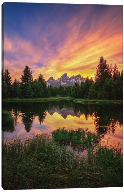 Last Rays Over The Grand Tetons Canvas Art Print