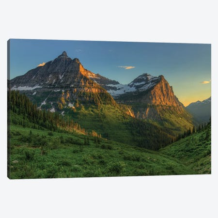 Mountains That Beckon Canvas Print #SHL145} by Bill Sherrell Art Print
