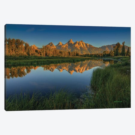 On Golden Pond Canvas Print #SHL149} by Bill Sherrell Canvas Wall Art