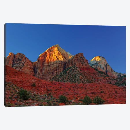 Peaks Of Glory Canvas Print #SHL162} by Bill Sherrell Canvas Artwork