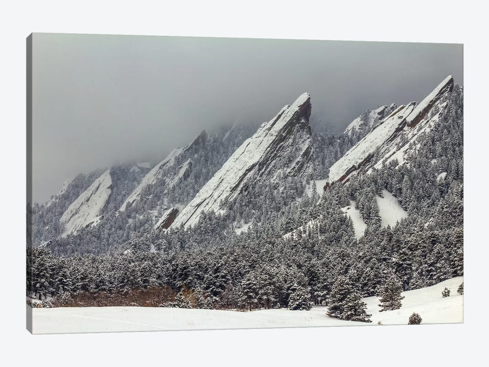 Snow On The Flatirons by Bill Sherrell 1-piece Canvas Art