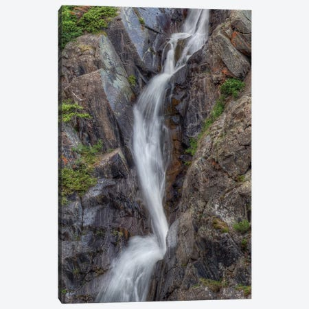 Splashwater Falls Canvas Print #SHL185} by Bill Sherrell Art Print