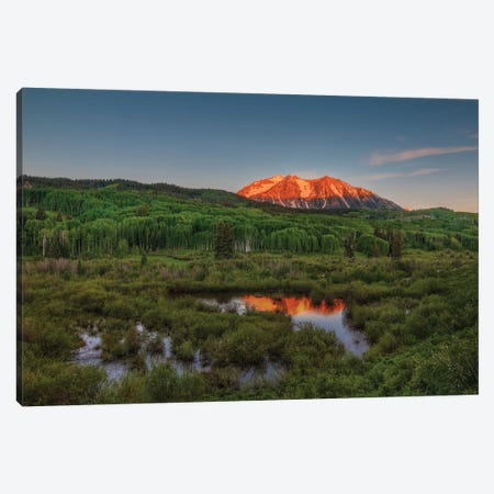 Spring Sunrise At East Beckwith Mountain Canvas Print #SHL186} by Bill Sherrell Canvas Art Print