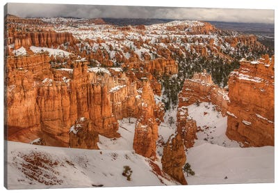Storm Brewing Over Bryce Canyon Canvas Art Print